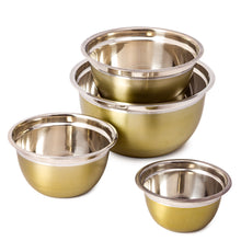 Load image into Gallery viewer, Stainless Steel Mixing Bowl Set of 4 - High Quality Stainless Steel Serving Bowl
