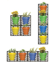 Load image into Gallery viewer, Wall Hanging Planters Set - Indoor Outdoor Customizable Wall Planter Pot Set