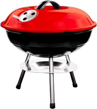 Load image into Gallery viewer, 14 Inch Portable Kettle Charcoal BBQ Grill / Kettle Barbecue - Red