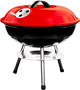 14 Inch Portable Kettle Charcoal BBQ Grill / Kettle Barbecue - Red