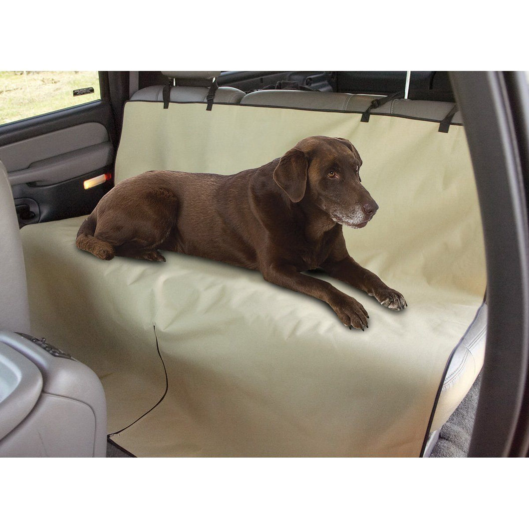 Waterproof Dog Seat Cover - Pet Auto Seat Protector - Beige