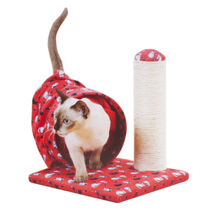 Cat Tunnel & Scratching Sisal Post - Cat Scratcher Pole