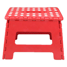 "Load image into Gallery viewer, Home Folding Step Stool For Kids Adults 7.5"" Heavy Duty Plastic Stool W/ Handle"