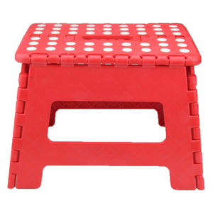 "Home Folding Step Stool For Kids Adults 12"" Heavy Duty Plastic Stool With Handle"