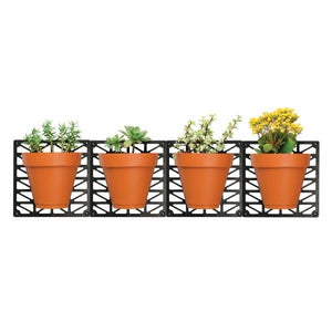 Wall Hanging Planters Set - Indoor Outdoor Customizable Wall Planter Pot Set