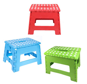 "Home Folding Step Stool For Kids Adults 7.5"" Heavy Duty Plastic Stool W/ Handle"