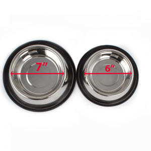2 Pack Stainless Steel 32 Oz. & 16 Oz. Pet Bowl - Dog Cat Food Bowls