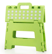 "Load image into Gallery viewer, Home Folding Step Stool For Kids Adults 12"" Heavy Duty Plastic Stool With Handle"