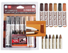 Load image into Gallery viewer, 12 Pc Furniture Restoration Wood Stain Markers Pen Set with Filler Sticks