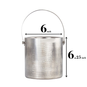 Premium Quality Stainless Steel Ice Bucket With Tong - Reptile