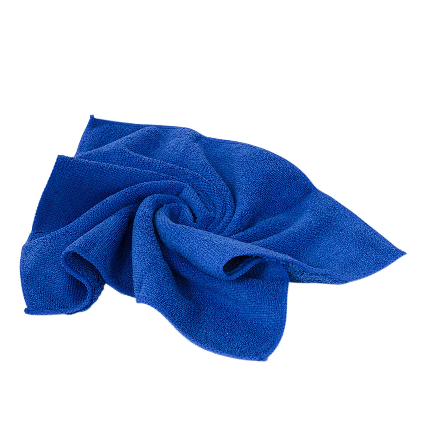 24 Pack Large Blue Microfiber Cleaning Cloth No-Scratch Rag Car Polishing Detail
