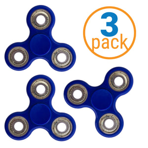 Metal Bearing Fidget Spinner 3 Pack – ADHD Focus Fidget Toy Spinner – Fiddle Toy