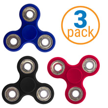 Load image into Gallery viewer, Metal Bearing Fidget Spinner 3 Pack – ADHD Focus Fidget Toy Spinner – Fiddle Toy