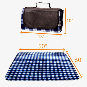 "Waterproof Picnic Blanket – 50"" x 60"" Large Beach Blanket Or Outdoor Picnic Mat"