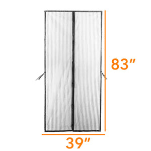 Improved Magic Screen Hands Free Magnetic Door Stronger Magnet & Heavy Duty Mesh