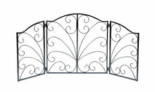 "Load image into Gallery viewer, 48"" Freestanding Pet Gate - Fireplace Screen Design Metal Dog Gates Indoor Fence"