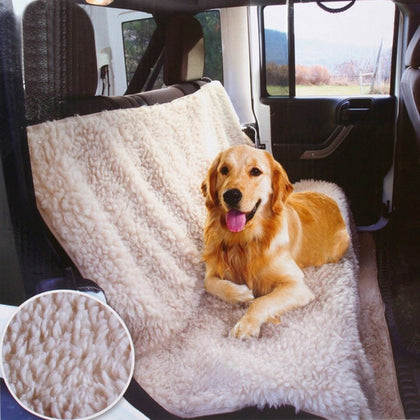 Comfy Fleece Car Seat Cover For Travel Dog & Pet - Dogs Seat Covers