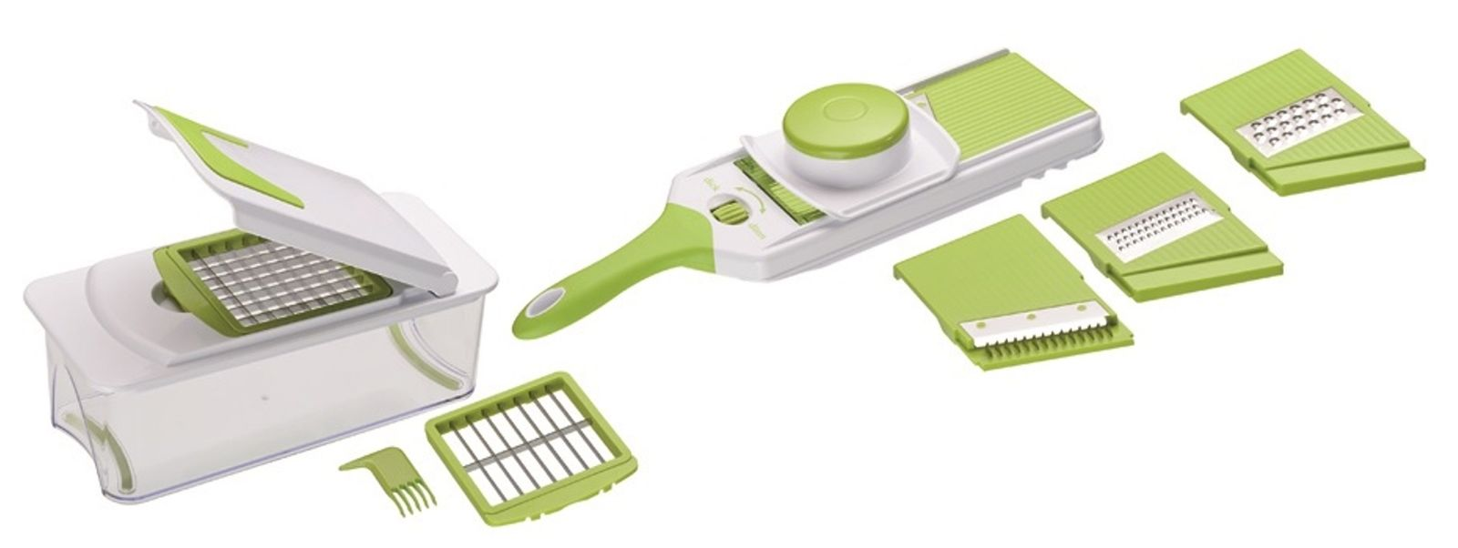 Mandoline Slicer Grater - 15 pcs. Multi Blade Food Chopper & Vegetable Cutter