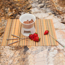 Load image into Gallery viewer, Ceramic Chocolate Fondue Set Fondue Pot & Cheese Fondue Dippers