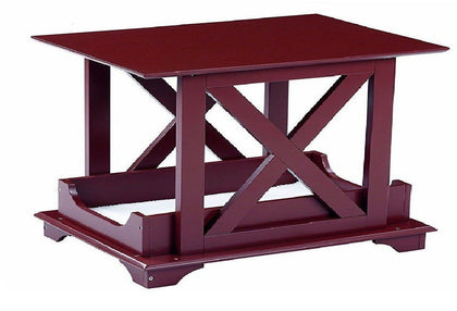 Wood End Table Built in Medium Dog Pet Bed - Removable Cushion 21 1/4
