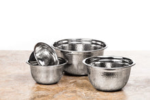 Load image into Gallery viewer, Stainless Steel Euro Mixing Bowl Set - 4 Nested Deep Kitchen German Mixing Bowls