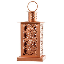 Load image into Gallery viewer, Metal Copper Moroccan Lantern Candle Holder - Tea Light Candle Holder
