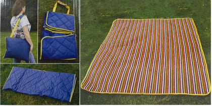 Waterproof Picnic Blanket – Large Beach Blanket - Outdoor Travel Picnic Mat Blue