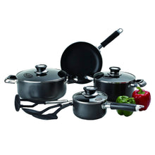 Load image into Gallery viewer, Imperial Home Nonstick Cookware Sets - 10 Pc Black Pots and Pans Set PTFE and PFOA Safe Pots Pans Set