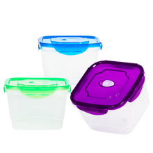 Load image into Gallery viewer, 3 Pack BPA Free Food Storage Containers with Lids – Large Food Storage Containers – Airtight Food...