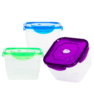 3 Pack BPA Free Food Storage Containers with Lids – Large Food Storage Containers – Airtight Food...