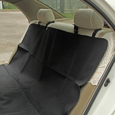 Black Waterproof Dog Seat Cover - Pet Auto Seat Protector