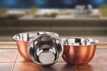 Load image into Gallery viewer, High Quality Stainless Steel Copper Mixing Bowl - 3 Piece Nesting Bowls Set
