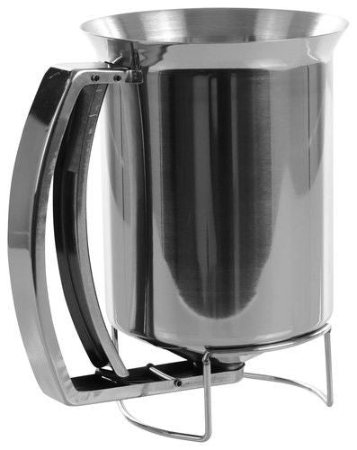 Stainless Steel Pancake Batter Dispenser – 3 Cup Cupcake Batter Dispenser