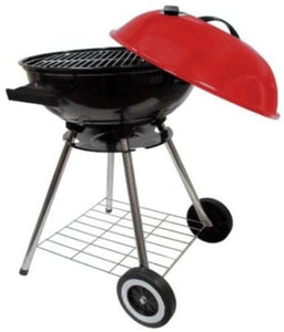 Round Kettle Charcoal 18 Inch Barbecue BBQ Grill With Red Lid
