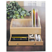 Load image into Gallery viewer, Wood Mail Bill Letter Organizer Caddy Holder W/ Drawer Wooden Personal Secretary