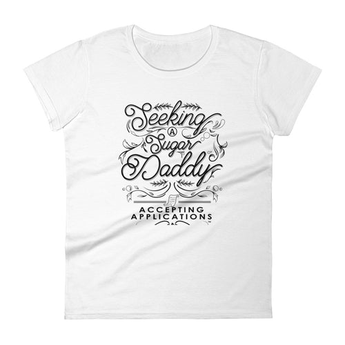 Seeking Sugar | Elizabeth Classic Tee (White) - Seeking Apparel - Sugar Baby Apparel
