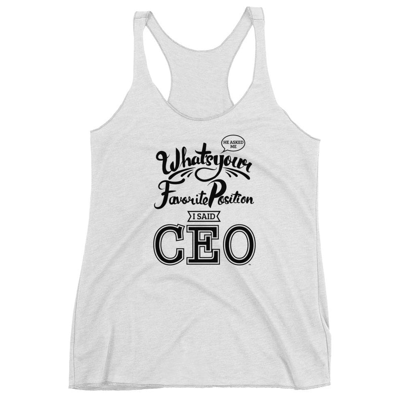 CEO | Vivian Racerback Tank (White) - Seeking Apparel - Sugar Baby Apparel