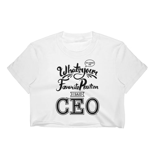 CEO | Anna Nicole Crop Tee (White) - Seeking Apparel - Sugar Baby Apparel