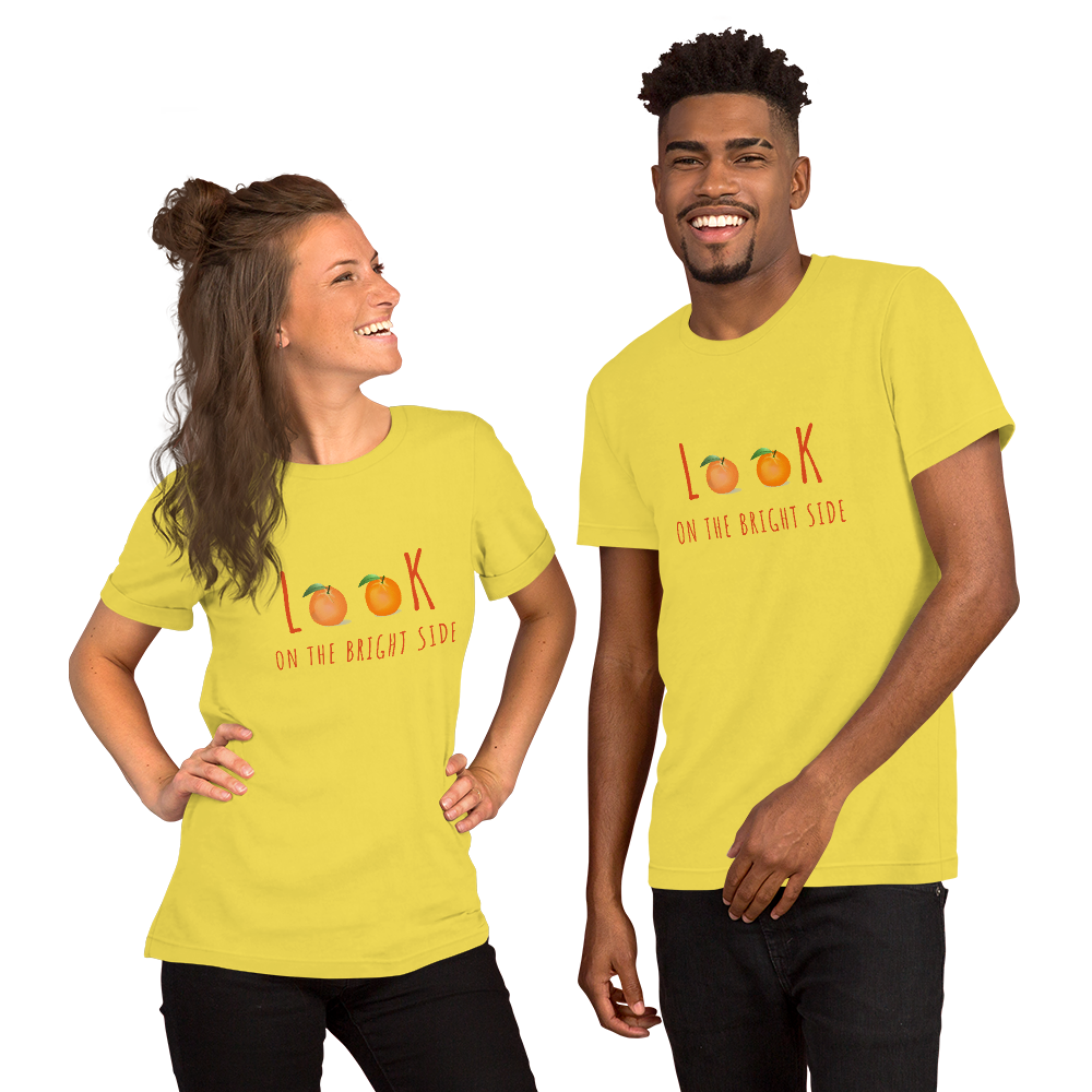 Look at the Bright Side Short-Sleeve Unisex T-Shirt