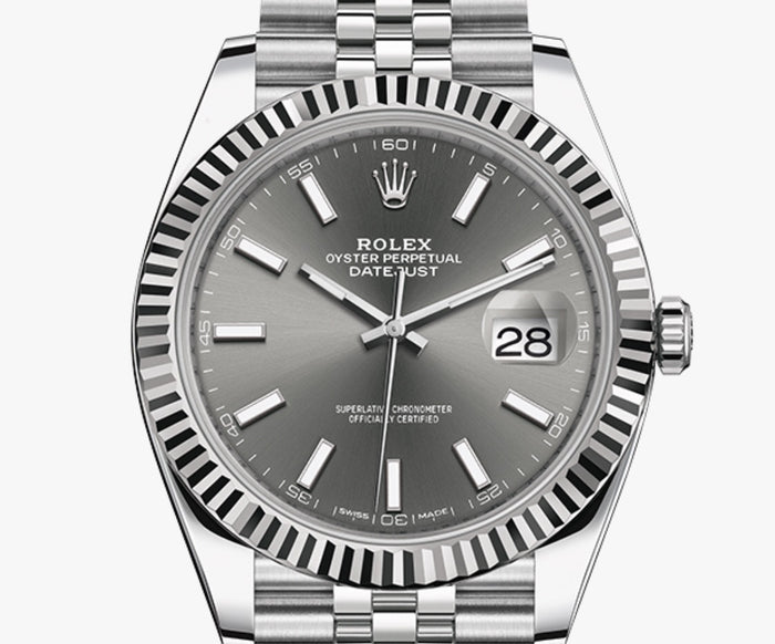 ROLEX DATEJUST 41 OYSTER PERPETUAL Oyster, 41 mm(WITH THE BOX)