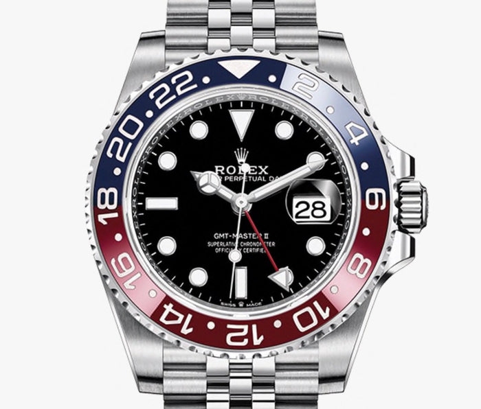 Luxury Rolex GMT- MASTER l l (WITH THE BOX)