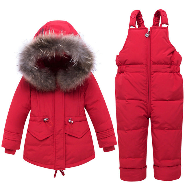 Kids Expedition Down Parka And Pants Set
