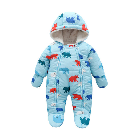 Adorable Baby Boy Polar Bear Jumpsuit