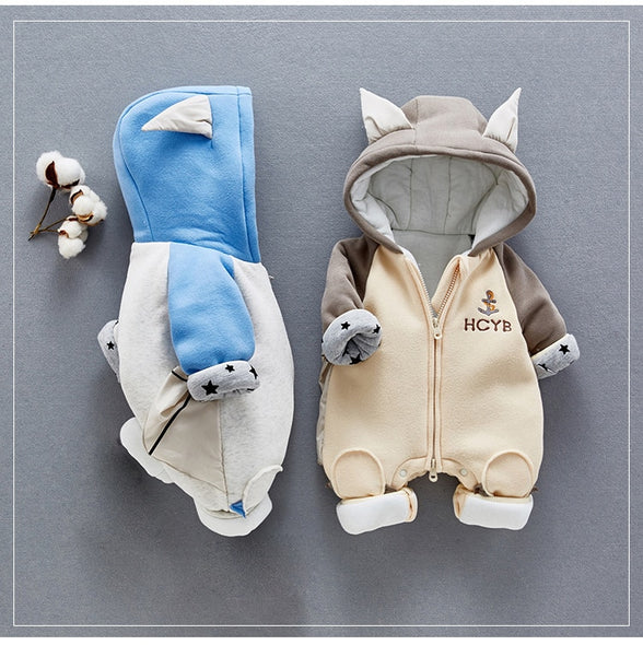 Cute Baby Bat Long-sleeve Hooded Jumpsuit