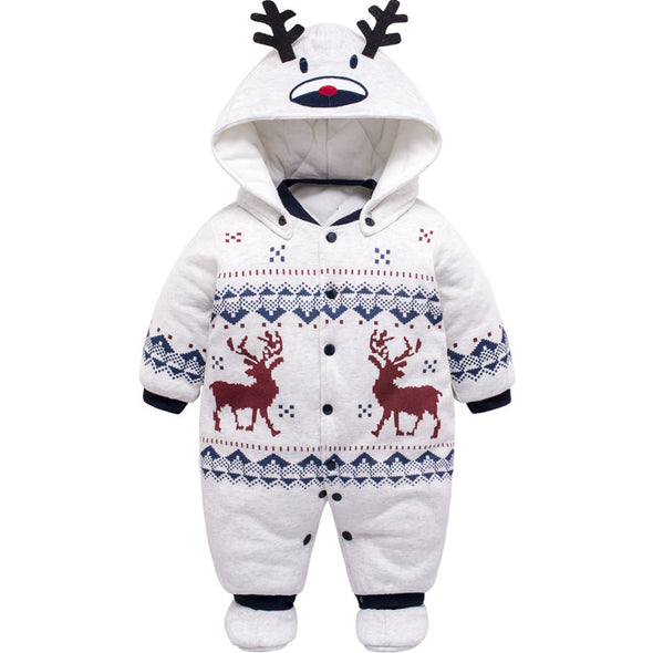 Cute Baby Deer Winter Jumpsuit