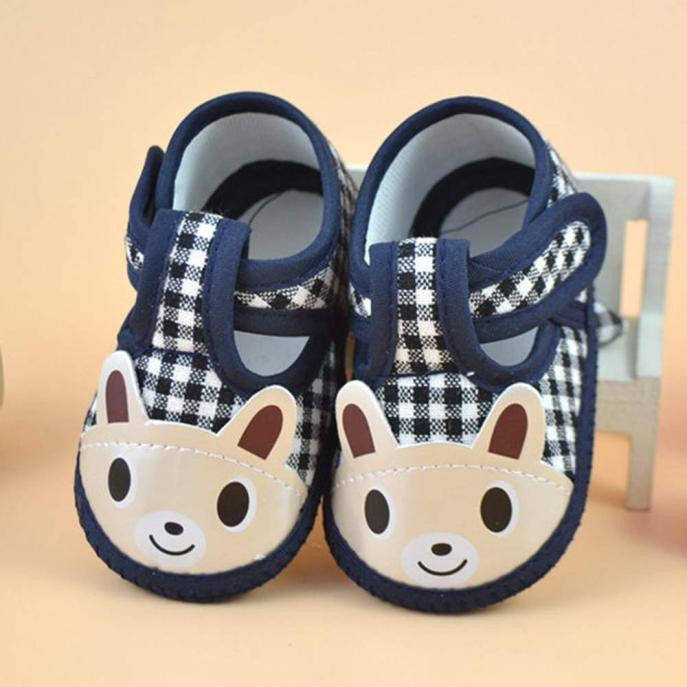 Navy Baby Canvas Bunny Shoes