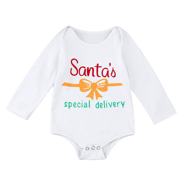 """Santa' Special Delivery"" Baby, Toddler Onesie Romper"