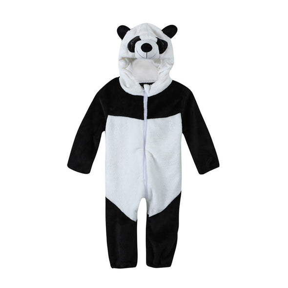 Baby Panda Hooded Romper