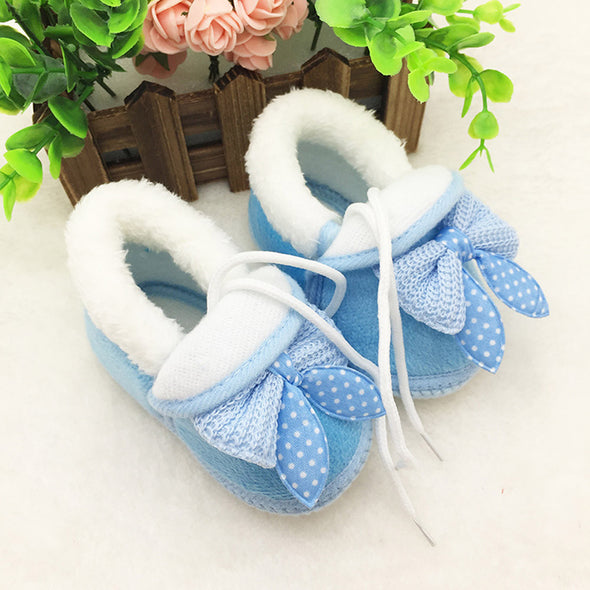 Newborn Baby Bow Knot Shoes