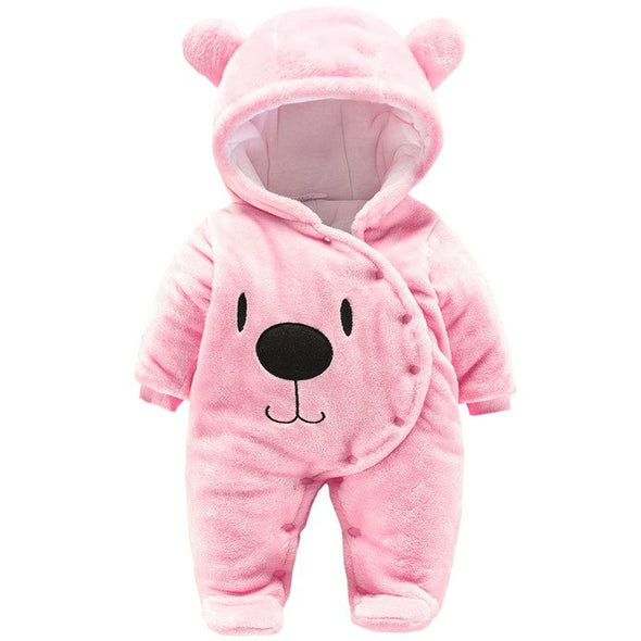 Adorable Baby Bear Hooded Jumpsuit